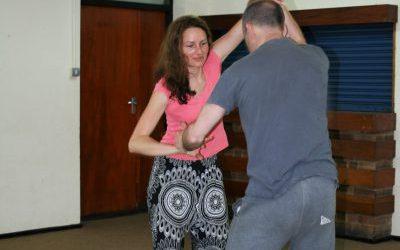 Women practicing Wing Chun Woking